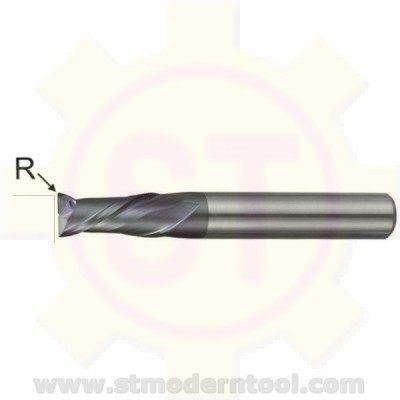 EMC332 STK ้เอ็นมิลคาร์ไบท์ R เป็นมุมมน เคลือบ ALTiN-COATED) 2 ฟัน รุ่นยาว