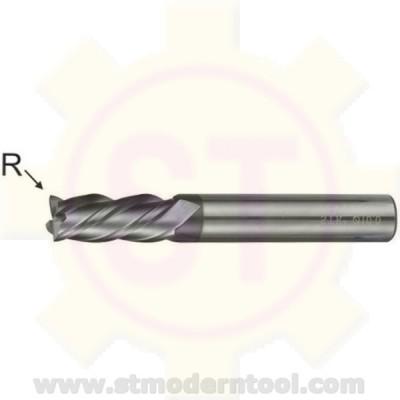 EMC334 STK เอ็นมิลคาร์ไบท์ R เป็นมุมมน เคลือบ ALTiN-COATED) 4 ฟัน รุ่นยาว