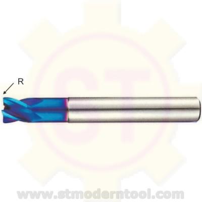 EM704/EM705 STK X70-POWER เอ็นมิลคาร์ไบท์ 4 ฟัน R เป็นมุมมน สำหรับเหล็กแข็ง 60-70 HRC